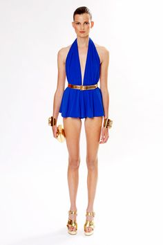 I didn't know MK made toothpicks for models' legs...I'm scared to click on the picture and see the emmaciated details....Michael Kors, Resort 2013.