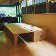 patrickaudet - 0 results for van life Van Conversion Interior, Camper Van Conversion Diy, Van Conversion Bed Frame, School Bus Rv Conversion, Wolkswagen Van, Folding Couch, Folding Beds, Campervan Bed, Fold Out Beds