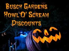 Coupons For Busch Gardens Howl Ou0027 Scream