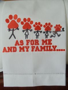 Clemson Stick Family Classic Linen Guest or Kitchen Towel. $12.00, via Etsy.