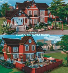 Sims 4 Family House, Family House Plans, Sims 4 House Plans, Sims 4 House Building, Sims 4 House Design, Casas The Sims 4, Sims Four, Sims 4 Build, Sims 4 Mods