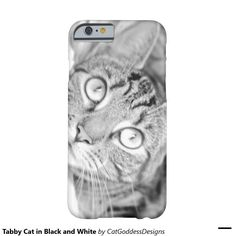 Tabby Cat in Black and White Barely There Store Design, Iphone Case Covers, Black And White, Cats, Gatos, Black N White, Black White, Cat, Kitty