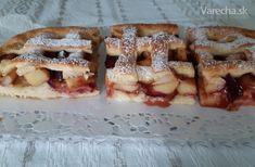 Jablkovo-slivkový mrežovník z tvarohového cesta (fotorecept) - recept | Varecha.sk Apple Dessert Recipes, Thing 1, Doughnut, French Toast, Breakfast, Food, Basket, Morning Coffee, Essen