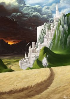 Gandalf riding to Minas Tirith Gandalf, Aragorn, Minas Tirith, J. R. R. Tolkien, Between Two Worlds, Into The West, Wow Art, Lord Of The Rings, Middle Earth