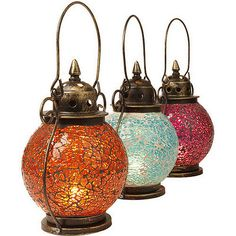 Turkish style mosaic glass lanterns
