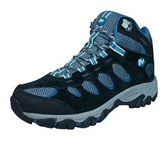 Merrell Ridgepass Mid GoreTex Womens Walking  Hiking Boots  TrainersBlack75 >>> Visit the image link more details.(This is an Amazon affiliate link and I receive a commission for the sales) #CampingFootwear