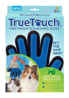 TrueTouch - Five Finger Deshedding Glove. The Easiest Way To Brush Your Pet!