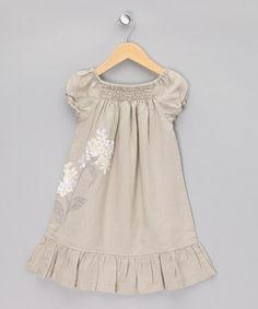 Take a look at this Wheat Hydranger Dress - Toddler & Girls by Little Linens on #zulily today! $26.99
