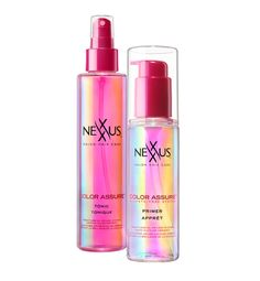 """Beauty Tips From A Supermodel-Turned-Actress - color retention: """"I use this Nexxus primer on my hair right before showering to keep water out and lock color in,"""" says Sims. """"It's my secret to preserving the color. After showering, I spritz my hair with the Nexxus glossing tonic to bring out the shine."""""""