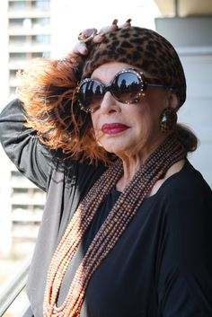 ADVANCED STYLE: Lynn Dell The Countess of Glamour Speaks, Animal
