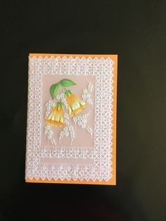 A Parchment Craft Magazine pattern crafted by Miss Jilly.