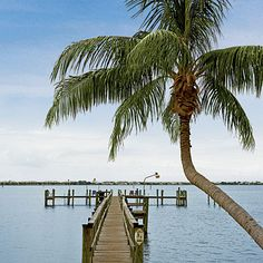 A wooden pier on the Indian River in Stuart, Florida. A place we once called home.
