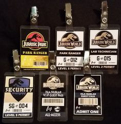 Jurassic World / Jurassic Park ID Badges by MuggleMarvels on Etsy