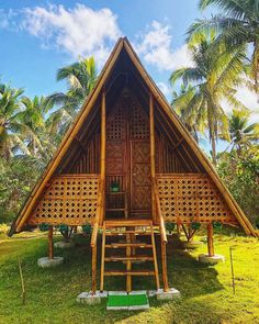 Stay In Seminyak For Less Than A Night - Design Finder Escapés Bamboo House Design, Tropical House Design, Tropical Houses, Hut House, Bahay Kubo, Booking Com, Modern Bungalow House, Bamboo Architecture, Homes