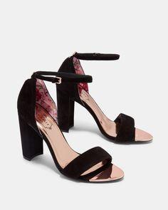 5c5d690f8b9 PHANDASuede ankle strap heeled sandals £120 £90 Footwear