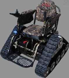 Action Track Chair All Terrain Vehicle from WoundedWarriorsInAction. Yes this is a real product. Motorcycle Camping, Camping Gear, Motorcycle Touring, Girl Motorcycle, Motorcycle Quotes, Powered Wheelchair, Mini Bike, Go Kart, Toys For Boys