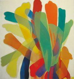 Morris Louis ~ 1959, 2002 (acrylic, flock, glitter on canvas)