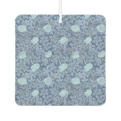 Rose White Blue Pattern Car Air Freshener - rose style gifts diy customize special roses flowers