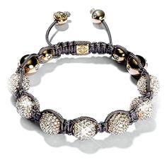 Crystal Celebrity Grey Shamballa Bracelet