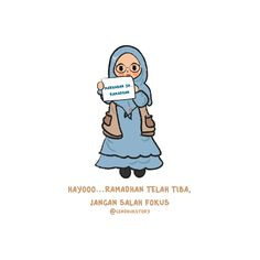 Ramadhan Cute Cartoon Quotes, Cute Quotes, Ramadhan Quotes, Tumbler Quotes, Quotes Lucu, Islamic Cartoon, Anime Muslim, Islamic Quotes Wallpaper, Reminder Quotes