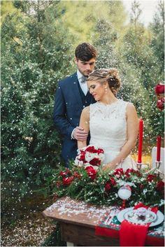 Christmas Wedding photo Shoot, pastel pink petals wedding decor, wedding table centerpieces, wedding table candle decor  #wedding photo shoots #wedding ideas www.dreamyweddingideas.com