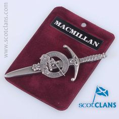 Pewter kilt pin with MacMillan Clan Crest - from ScotClans