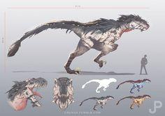 Jurassic Park Brainstorm Concept, Chun Lo on ArtStation at https://www.artstation.com/artwork/jurassic-park-brainstorm-concept