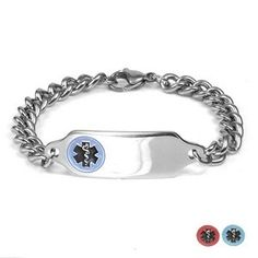 G Adult Medical Stainless Bracelet (Optional Safety Clasp)