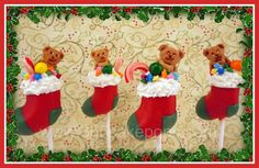 Every Day Should Pop!: Day 6: Christmas Cake Pops - Stockings