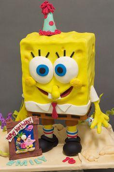 Sponge Bob Cake by studiocake, via Flickr