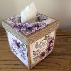 Decorated tissue box