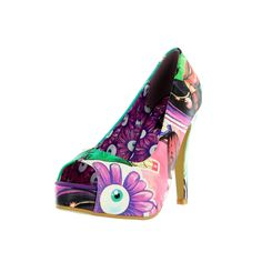 IRON FIST LADIES ' MAKE UP MY MIND ' PEEP TOE PLATFORM SHOES (E5B)