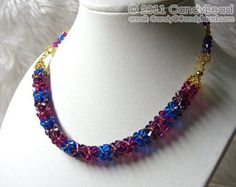 Items similar to Swarovski Necklace; Luxurious Swarovski Crystal Berry Necklace by CandyBead on Etsy Swarovski Crystal Necklace, Glass Necklace, Swarovski Crystals, Beaded Necklace, Beaded Bracelets, Beautiful Necklaces, Handmade Necklaces, Chain, Luxury