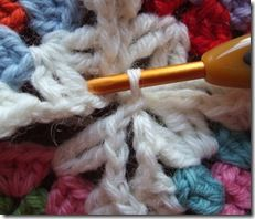 Crochet clearly describes how to join as you go corners