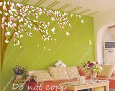 etiqueta de la pared de flor de cerezo árbol por walldecals001