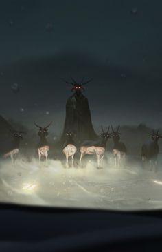 """fantasyartwatch: """" Jersey Devil by Alex Constad """""""