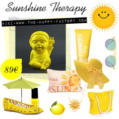 """Sunshine Therapy"" by thehappyfactory on Polyvore #bouddha #happy #smile #deco #home"