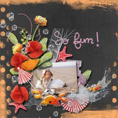 A summer full of bright happy colors, Who doesn;t love that?!  Play of Summer - Full Kit by #WendyPDesigns This collection is full of fun and sunny elements perfect to scrap every summer photo's you have.  #thesutdio #digitalscrapbooking