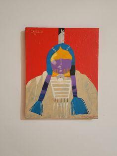 'Ogala' Acrylic on Canvas Artist Louis DeMayo
