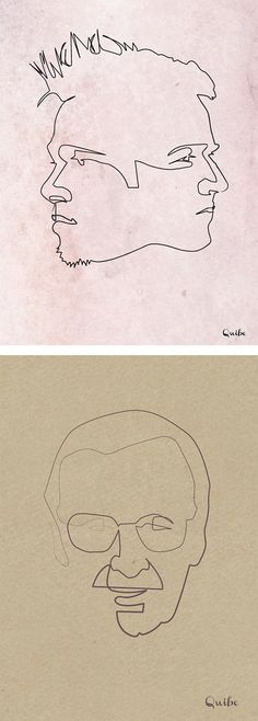 One Line Drawings by Quibe I like these they remind me of a series of one line drawings I did of classical composers