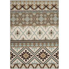 Safavieh Indoor/ Outdoor Veranda Geometric Cream/ Brown Rug (8' x 11'2) - Overstock™ Shopping - Great Deals on Safavieh 7x9 - 10x14 Rugs