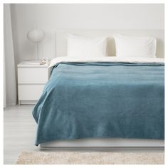 IKEA - TRATTVIVA, Bedspread, & , Fleece is a soft, easy-care material that you can machine wash.Can be used as a bedspread for a Full size bed or as a large blanket. Superking Bed, Bedroom Bed, Girls Bedroom, Diy Bedroom Decor, Bedrooms, Single Size Bed, Lit Simple, Bed Sizes, Bedroom Ideas