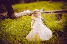 Champagne Chiffon Girls Dress Flower Girl Dresses by jamiepowell