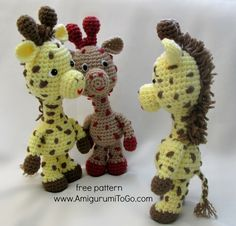 """Little Bigfoot Giraffe"" crochet pattern"