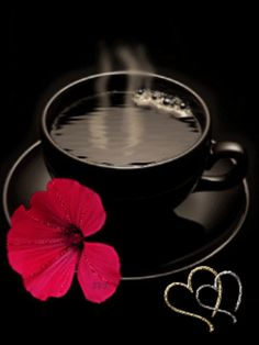 The morning begins with a cup of tea because it adds new hope and warmth to your life. Coffee Gif, Coffee Images, I Love Coffee, Coffee Quotes, Black Coffee, Coffee Break, My Coffee, Coffee Cups, Coffee Heart