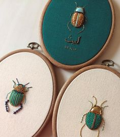 Incredible Insect Embroideries Take Needlepointing to New Levels - Creators