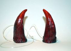 Blood Red Faun / Faery / Goblin Horns by changelingscloset on Etsy