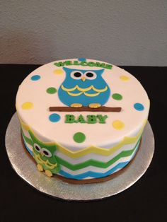 Owls and chevron cake made by Teresa Lynn cakes LLC Birthday Cakes, Birthday Parties, Chevron Cakes, Owl Cakes, How To Make Cake, Cake Ideas, Owls, Cupcake, Party