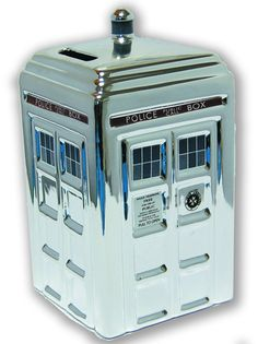 Image: Doctor Who Chrome Tardis Ceramic Money Bank