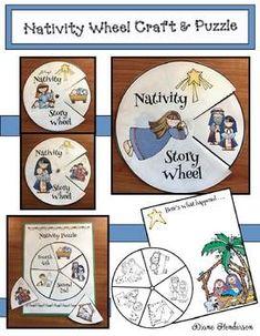 Nativity Storytelling Wheel, Puzzle & Writing Prompt